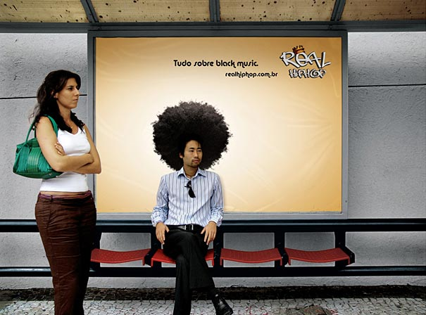 real hip hop black power 20+ Examples of Clever Bus Stop Advertising