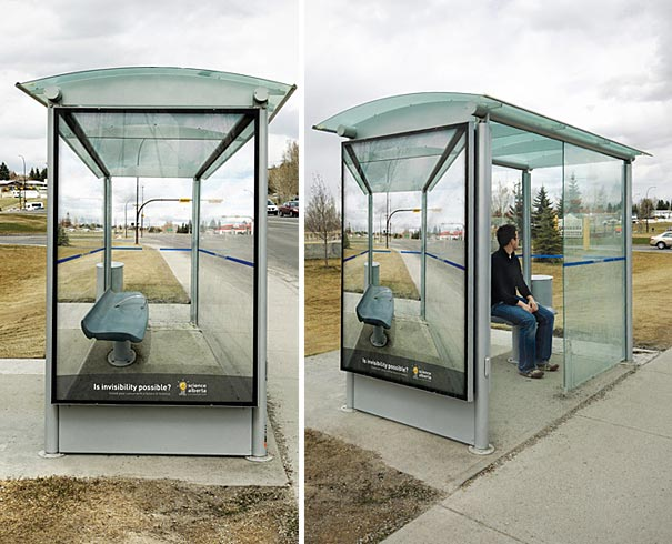 science alberta invisibility 20+ Examples of Clever Bus Stop Advertising