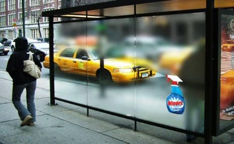 windex 20+ Examples of Clever Bus Stop Advertising