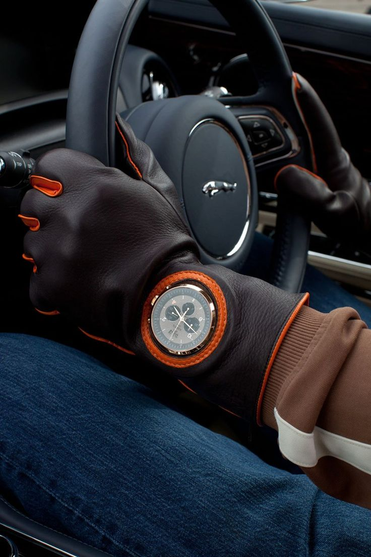 Driving Gloves with Watch Cutout