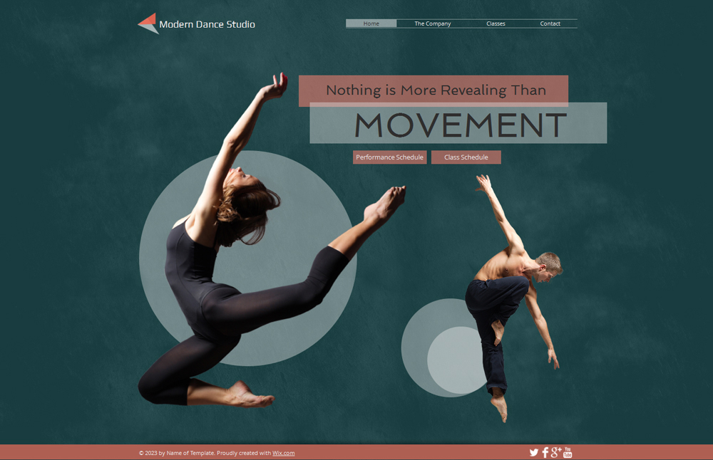 Free Modern Dance Studio HTML5 Website