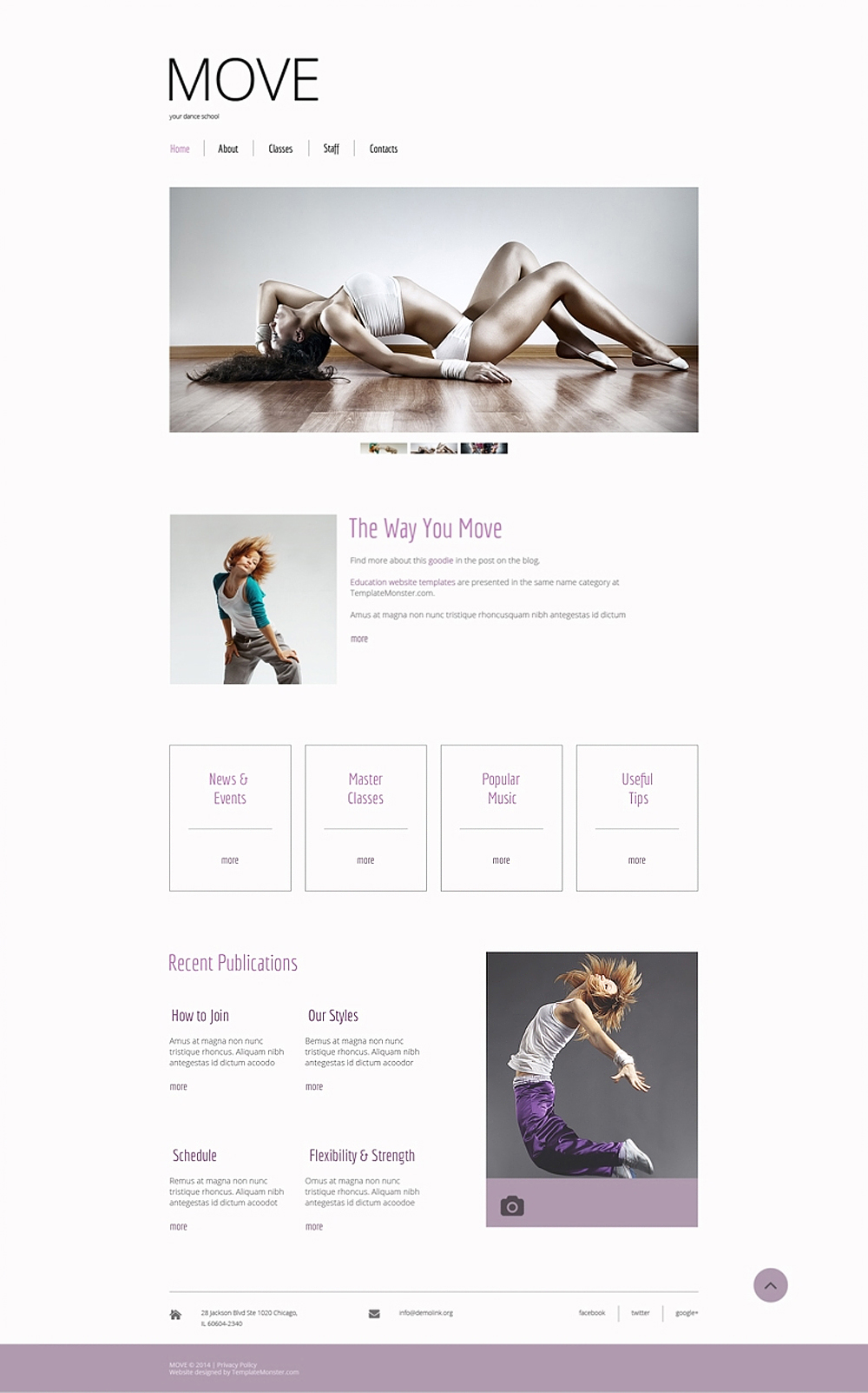 Free Dance Studio HTML5 Template