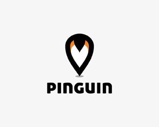 Pinguin (location pin + penguin)