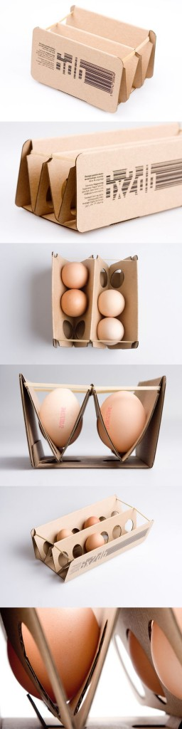 Cardboard & rubber band packaging by Eva Valicsek