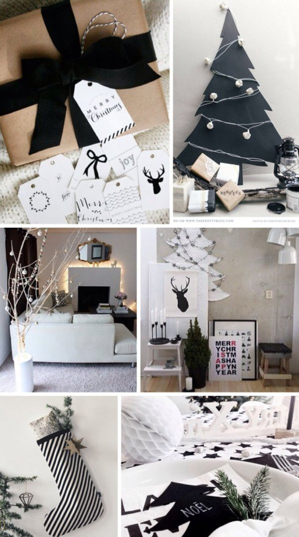 CHRISTMAS INSPIRATION- MODERN BLACK & WHITE