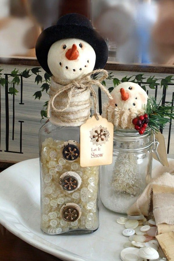DIY snowman for christmas