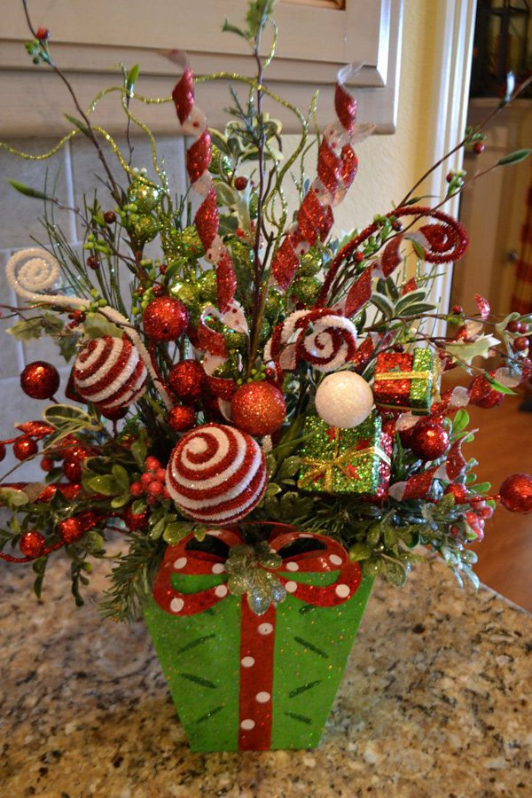 Whimiscal Christmas Flower Arrangements