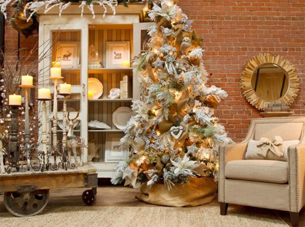 White Xmas Tree Decoration Ideas Popular Arredare Casa A Natale Foto At Decoration Ideas