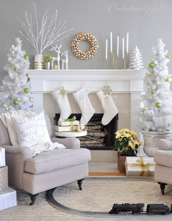 White christmas home decor