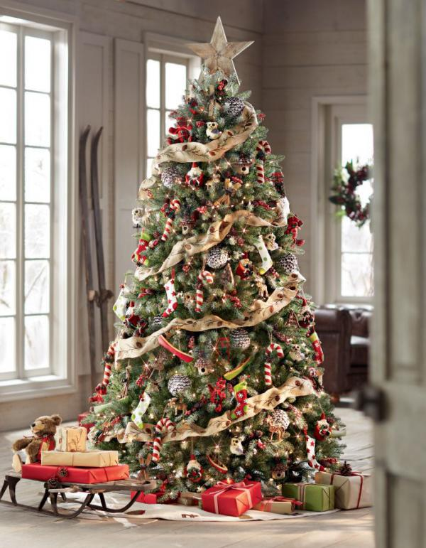 a christmas tree with a rustic look