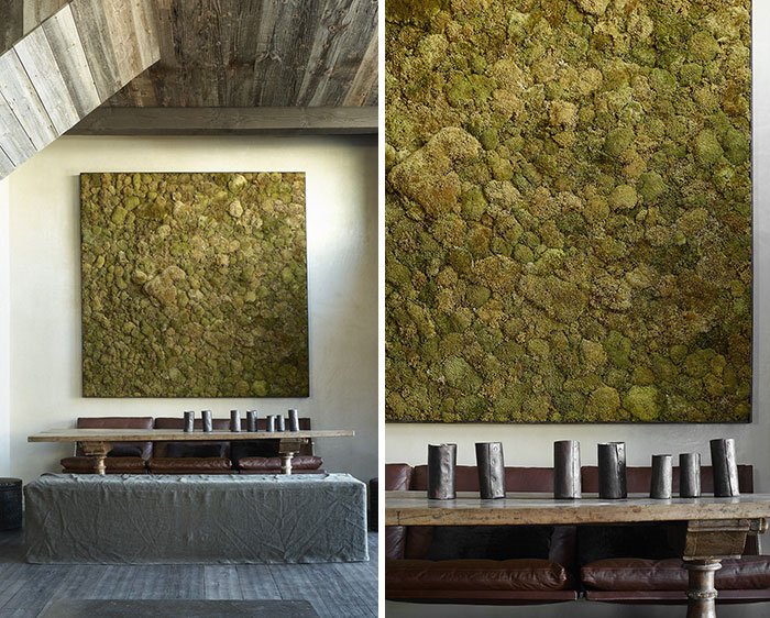 Moss Painting In Dining Room
