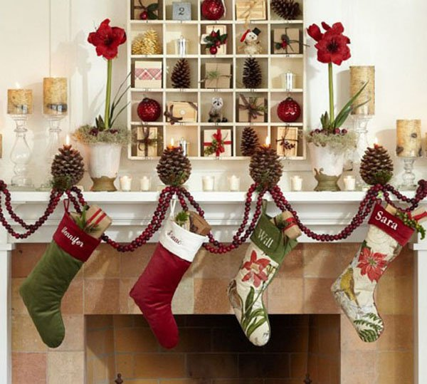 pottery barn christmas socks home decoration