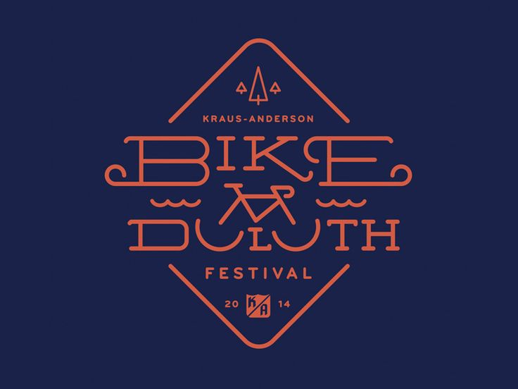 Bike Duluth Logo by Ken Zakovich