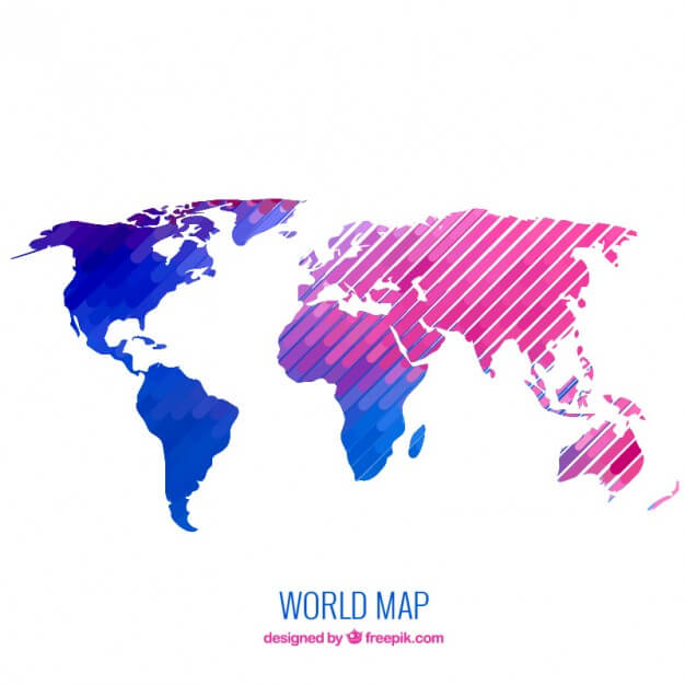 Modern world map