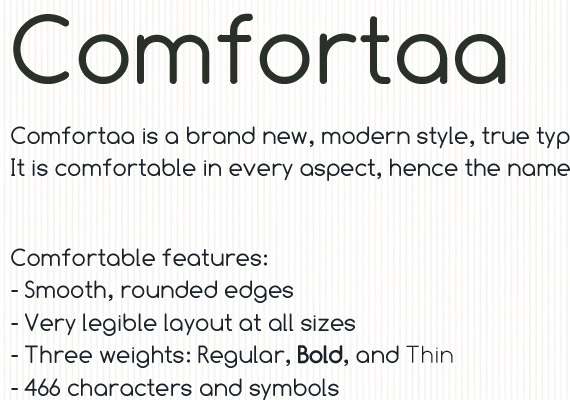 comfortaa-free-high-quality-font-web-design