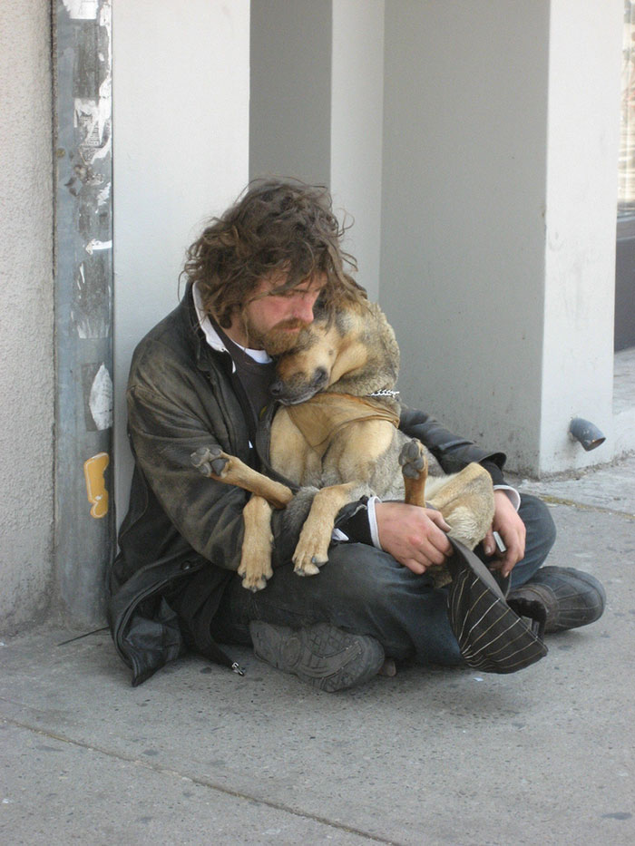 Homeless Dog Who Loves To Cuddle