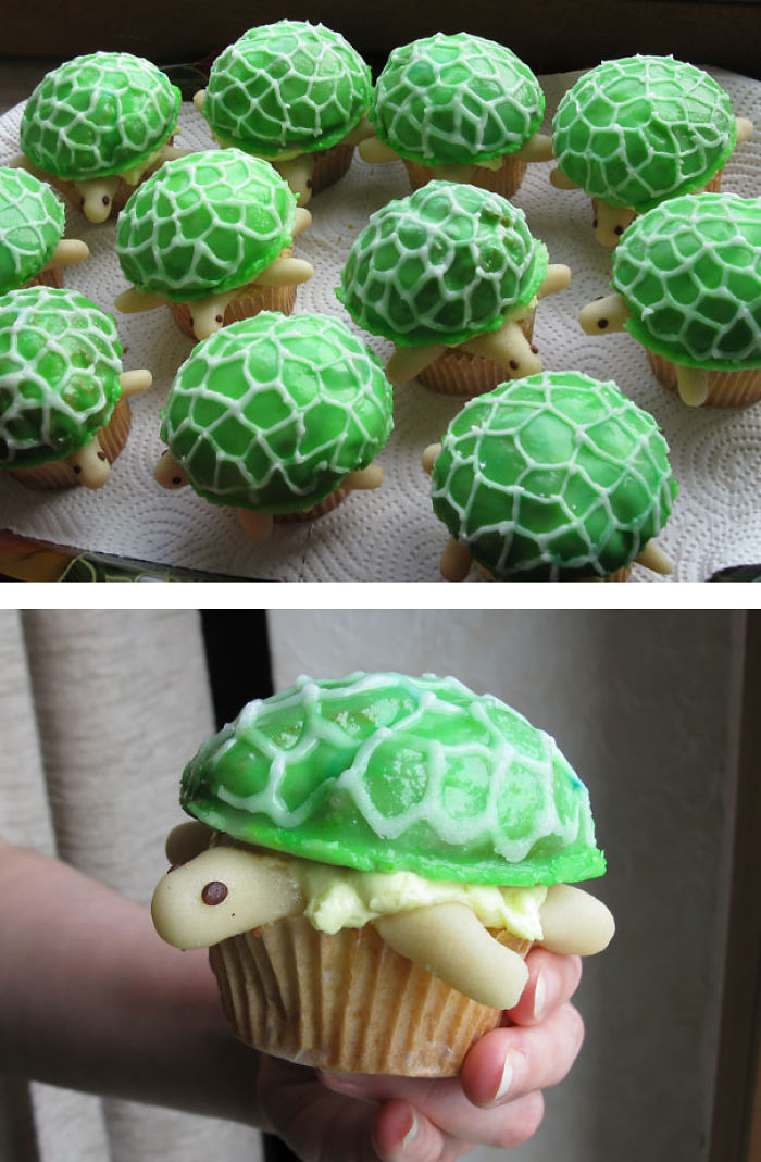 Turtle-shaped Cupcakes