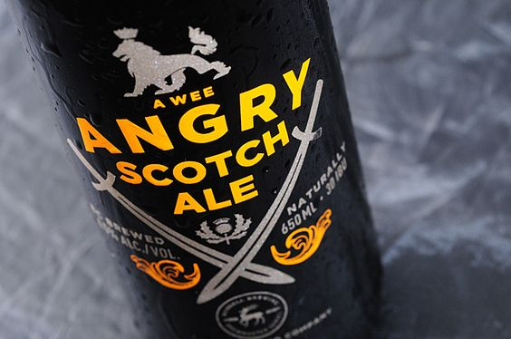 Russell Brewing's Angry Scotch Ale by Atmosphere Design
