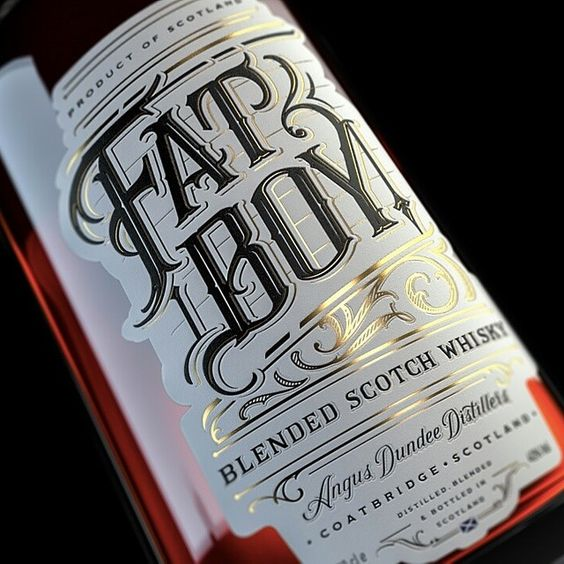 Fat Boy whisky label by Deluxe Interactive Moscow & mateuszwitczakdesigns