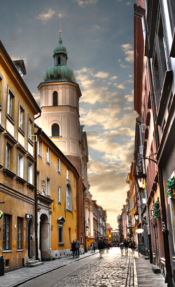 Warsaw, Old Town, Sunset