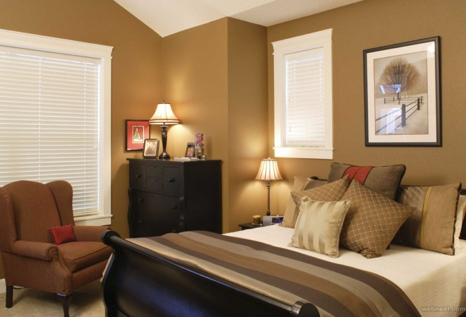 brown white bedroom color ideas
