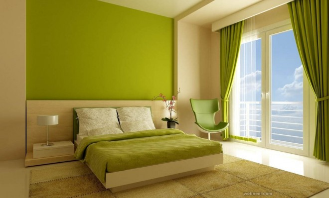 leaf green bedroom color ideas