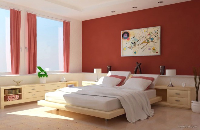 red bedroom color ideas