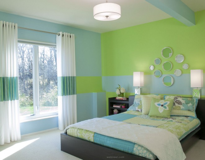 green blue bedroom colour ideas