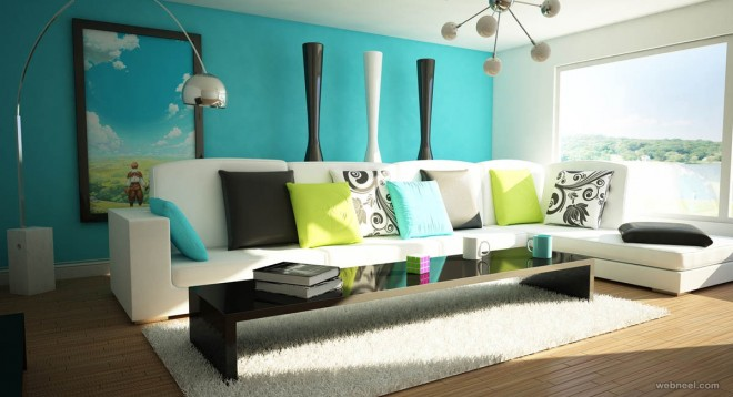 blue paint ideas for living room