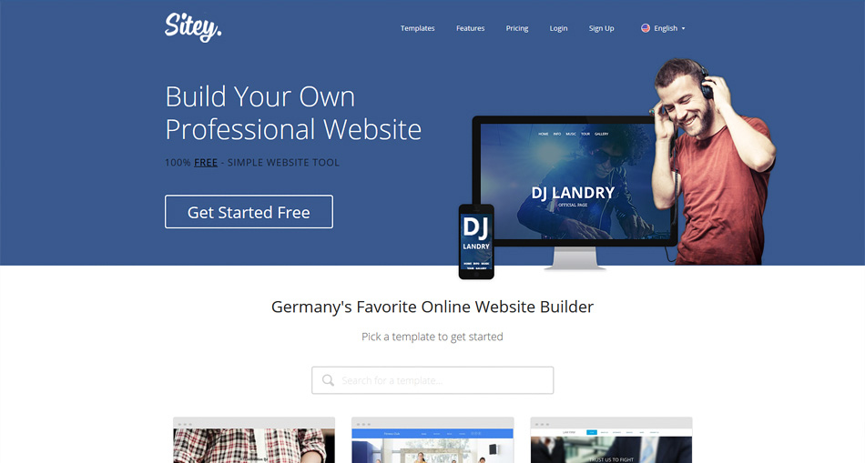 Sitey free website maker