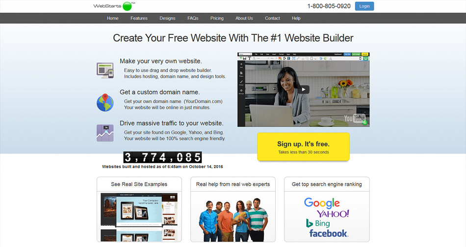 webstarts free web creator