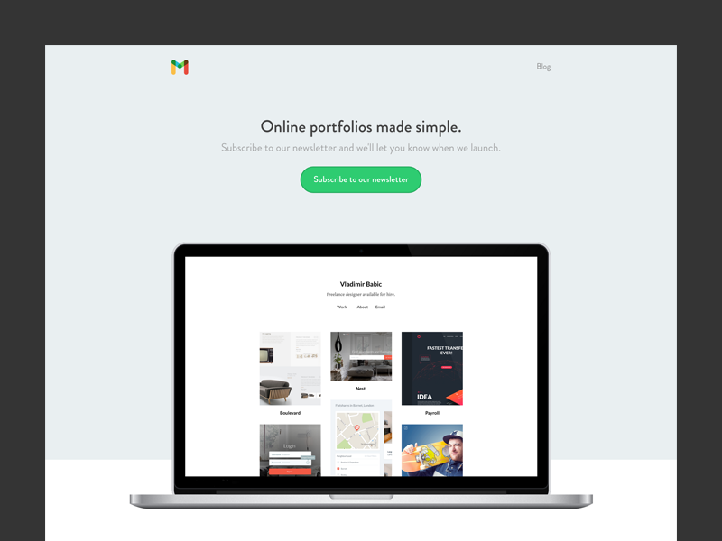 Material Landing Page by Aleksi Tappura