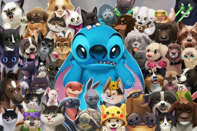 stitch pets digital painting