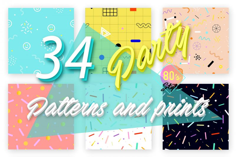 34 Party patterns/prints. 80's style - Patterns Like Save 34 Party patterns/prints. 80's style - Patterns - 1 34 Party patterns/prints. 80's style - Patterns - 2 34 Party patterns/prints. 80's style - Patterns - 3 34 Party patterns/prints. 80's style - Patterns - 4 34 Party patterns/prints. 80's style - Patterns - 5 34 Party patterns/prints. 80's style - Patterns - 6 34 Party patterns/prints. 80's style - Patterns - 7 34 fun 80's style vector seamless patterns & prints