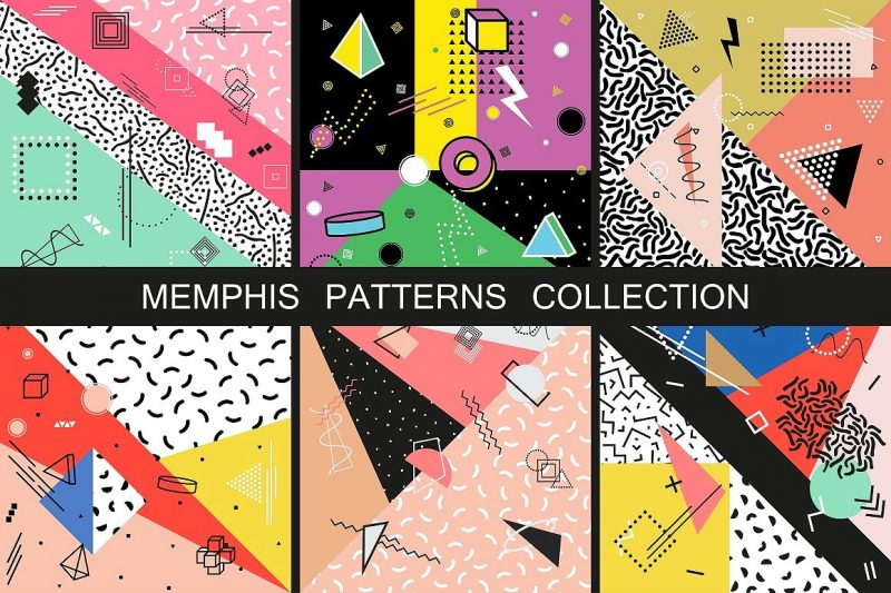 Memphis Patterns. Fashion 80-90s - Patterns Like Save Memphis Patterns. Fashion 80-90s - Patterns - 1 Memphis Patterns. Fashion 80-90s - Patterns - 2 Memphis Patterns. Fashion 80-90s - Patterns - 3 Memphis Patterns. Fashion 80-90s - Patterns - 4 Memphis Patterns. Fashion 80-90s - Patterns - 5 Collection of vector abstract memphis patterns with geometric shapes. Retro fashion style 80-90s.