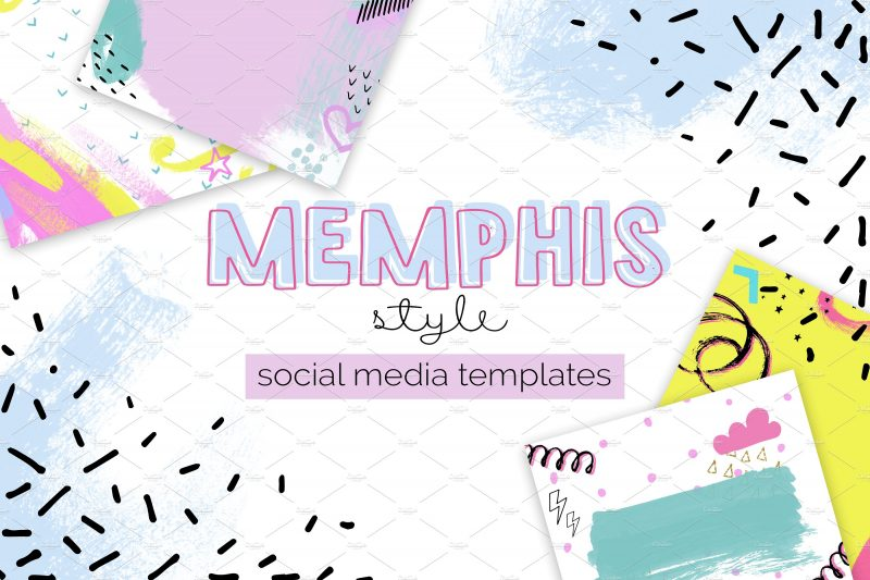 Memphis Style Templates - Illustrations Like Save Memphis Style Templates - Illustrations - 1 Memphis Style Templates - Illustrations - 2 Hi! We are Memphis Style social media templates. You can use these designs to make a poster, ad or announcement for you Facebook page or Instagram.