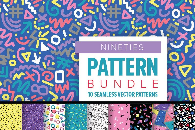 NINETIES Pattern Bundle - Patterns Like Save NINETIES Pattern Bundle - Patterns - 1 NINETIES Pattern Bundle - Patterns - 2 NINETIES Pattern Bundle - Patterns - 3 NINETIES Pattern Bundle - Patterns - 4 NINETIES Pattern Bundle - Patterns - 5 NINETIES Pattern Bundle - Patterns - 6 These unique patterns are perfect to add a distinctive retro flair to any graphic design project.